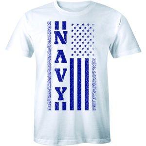 Navy American Flag T-Shirt Patriotic Stars T-shirt